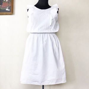 NWT J. Crew Factory White Dress w/ Ruffle Top